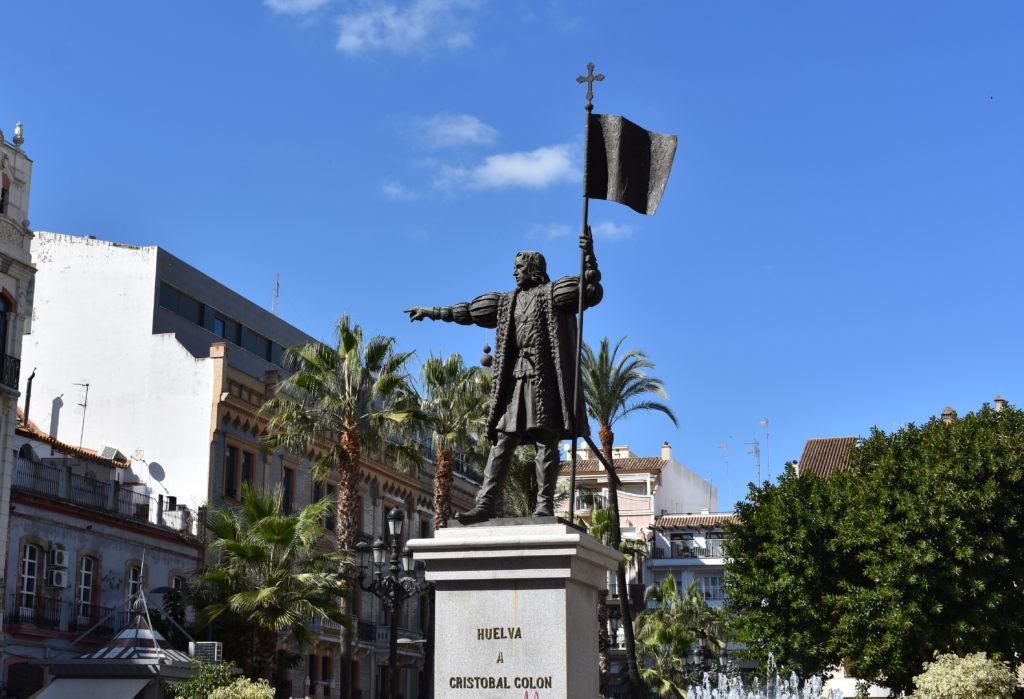 Columbus statue Huelva