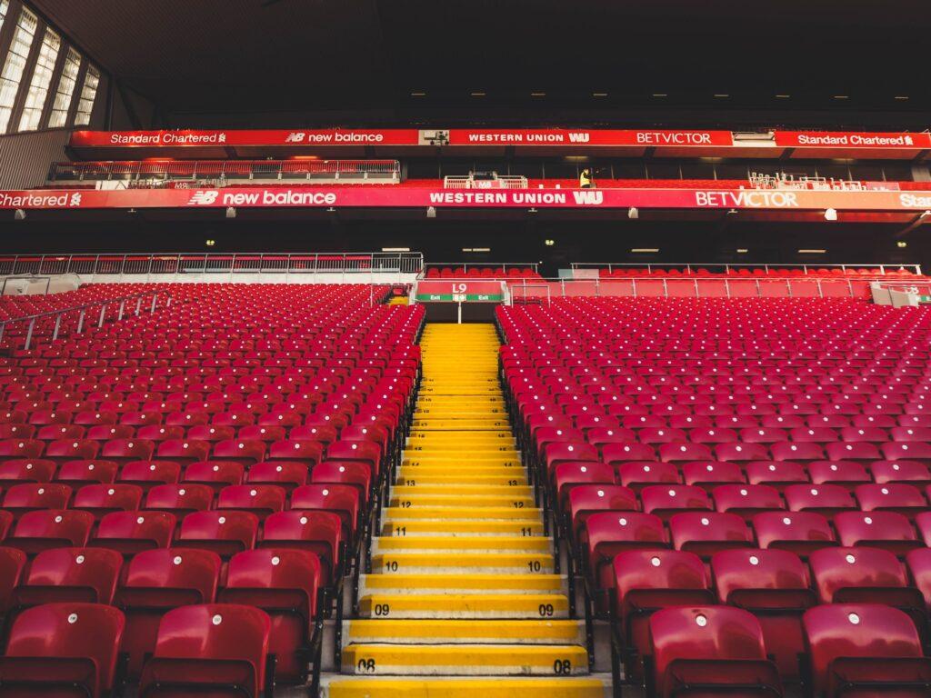 Seats at Anfield Stadium