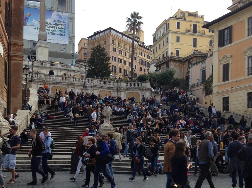 The Spanish Stairs in Rome