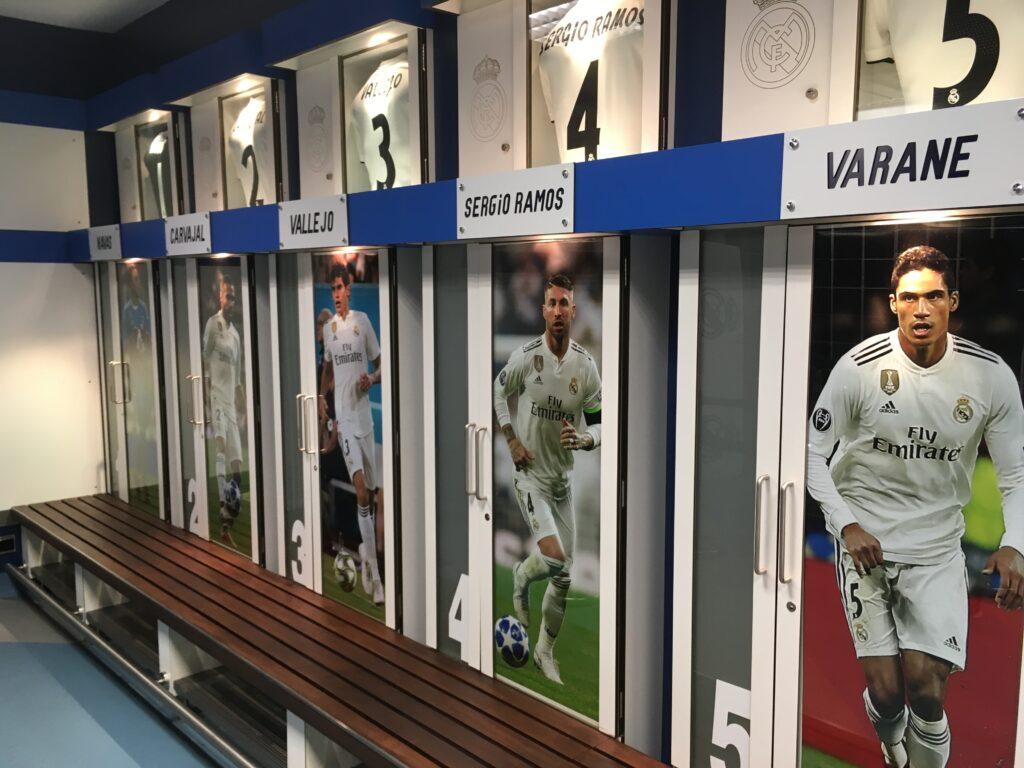 Real Madrid locker room